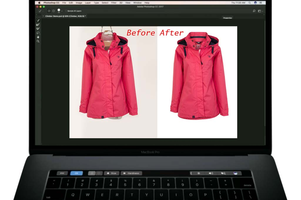 Fashion product photography editing service